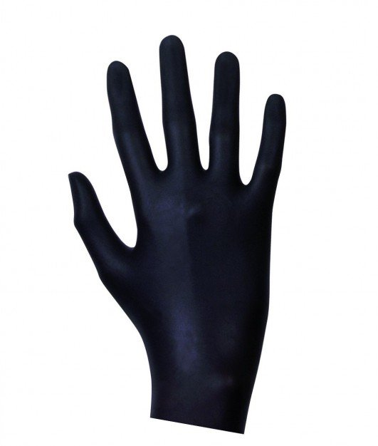 Latex Examination Gloves Black 100 pcs