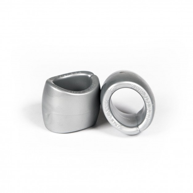 Zizi Plasma Cock Ring & Ball Stretcher 2 pcs Silver