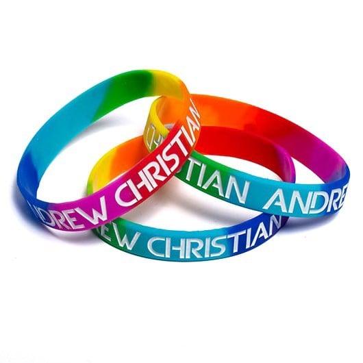 Andrew Christian Pride Rainbow Wristband