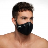 Addicted AC108 Shiny Face Mask Black