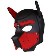 Neoprene Puppy Hood Red-Black