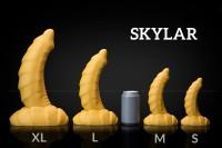 Weredog Skylar Dragon Dildo Cobalt/White Medium