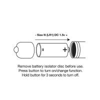 Rocks-Off RO-80mm Purple Vibrating Bullet