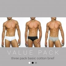 ES Collection UN184P 3 Pack Basic Cotton Brief