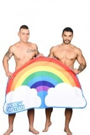 Plážová osuška Andrew Christian Rainbow Pride