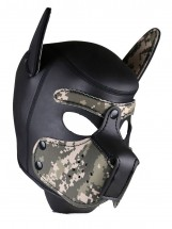 Neoprene Puppy Hood Camouflage-Black