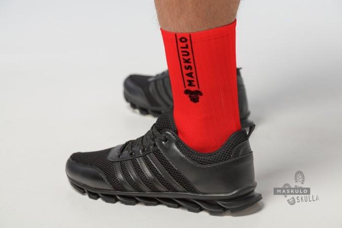 Ponožky Maskulo AC077-10 Fetish Crew Socks červené