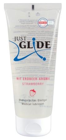 Lubrikační gel Just Glide Strawberry 200 ml