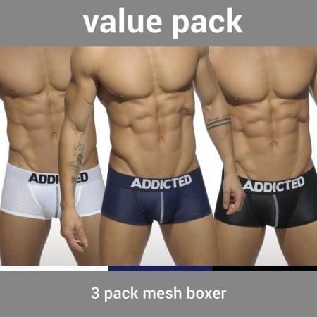 Boxerky Addicted AD477P Mesh Boxer Push Up 3 ks