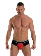Mister B URBAN Bronx Brief Black-Red
