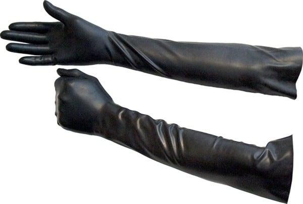 Gumové rukavice nad lakeť Mister B čierne