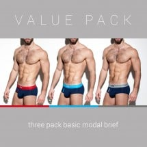 ES Collection UN248P 3 Pack Basic Modal Brief